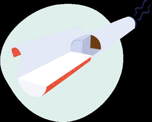 Illustrazione di un filtro di sigaretta