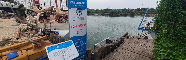 Immagine del secondo seabin attivaton nel porto di Fiumicino